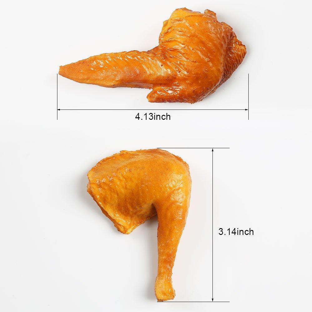 Amazon.com: ZUINIUBI Fake Chicken Wings and Legs Fried Artificial ...