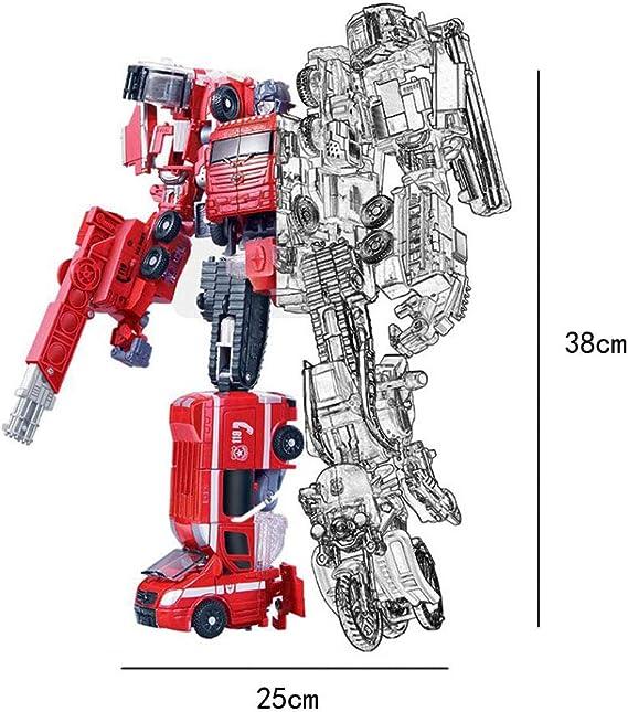 Heroes Rescue Bots, modelo de robot 5 en 1, motocicleta, camión de bomberos, grúa grande, excavadora, ambulancia, modelo de robot de combate, juguete de deformación para niños (Color : Motorcycle) : Amazon.es: Hogar