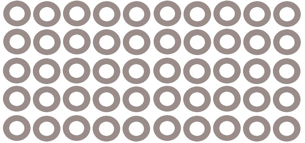 5 Pipe Size Pressure Class 150# Pack of 50 5.56 ID 1//16 Thick Sterling Seal CRG7540.5IN.062.150X50 7540 Vegetable Fiber Ring Gasket