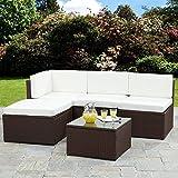 Bella Life Rattan Corner Sofa Garden Furniture Sets (Brown)