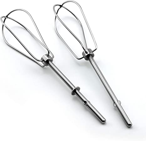 Egg Shakes Stainless Steel Hand Mixer Turbo Beaters For Blending Soups W10490648 Hand Mixer Turbo Beaters Compatible with KitchenAid Replace AP5644233 Smoothies 8212348 9707242 W10240913