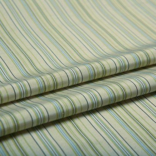 Generic Yarn-dyed Striped Silk Dupion Fabric Home Decor Light Green Color 44