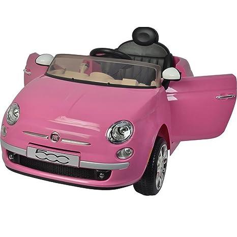 Colibri Auto Elettrica Per Bambini Fiat 500 Rosa R C 12v