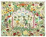 SPLENDID UZBEK SILK EMBROIDERY SUZANI ''UZBEK FAIRY TALE'' King Size A8169
