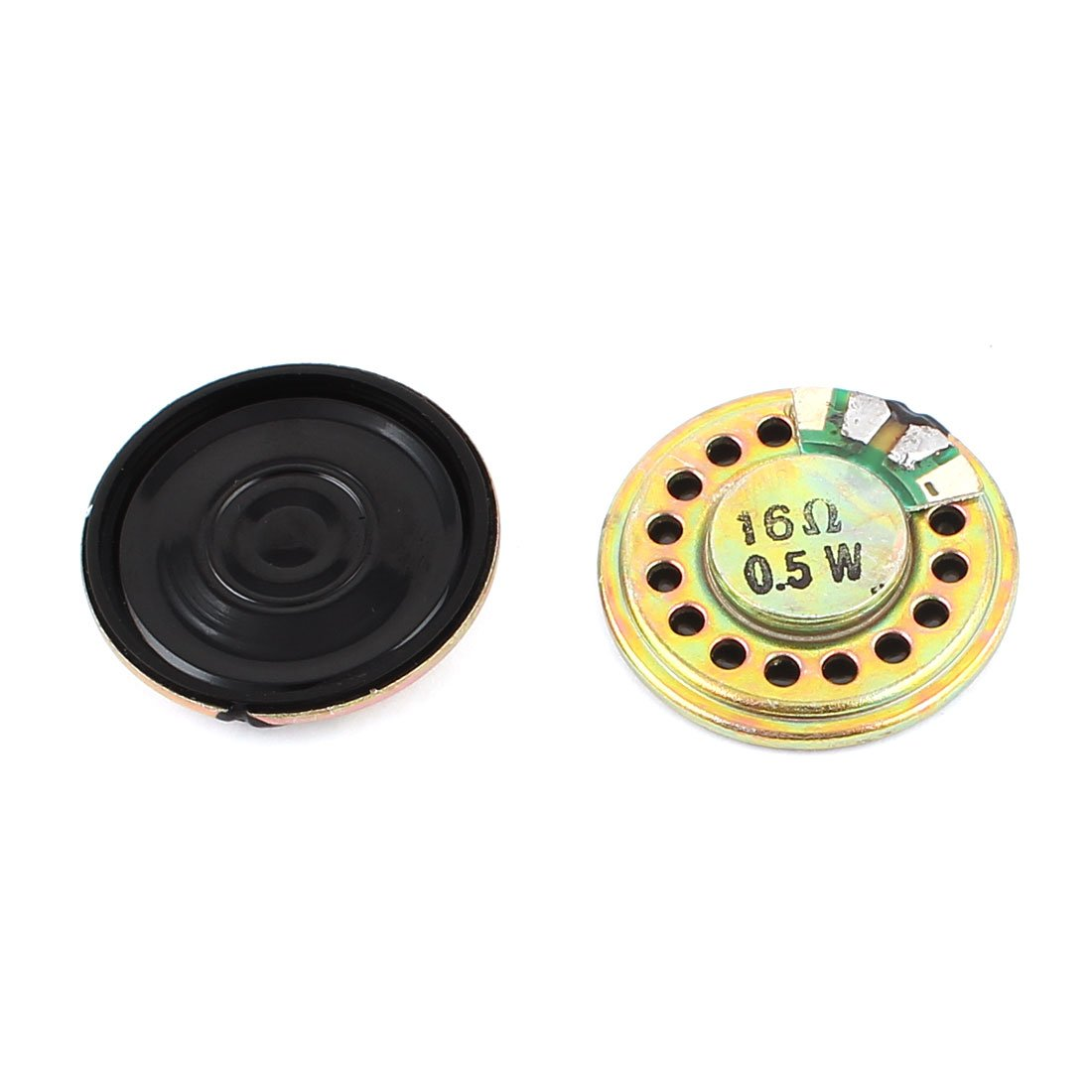 Sourcingmap/® 2 St/ück 0.5W 16Ohm 28mm runder innerer Magnet Elektronische Lautsprecher de
