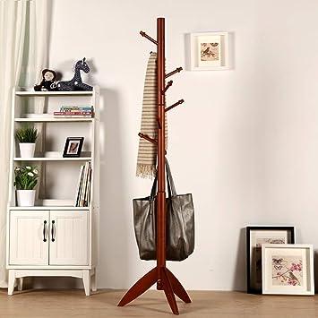 Amazon.com: MEIDUO Garment Clothing Rack Wood Coat Stand 8 ...