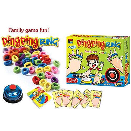 【 Alnair 】 対戦ゲーム おもしろ ゲーム 玉入れゲーム 子供 大人 家族ゲーム 友人 楽しい 卓上ゲーム キッズ アクション スポーツ トイ 対戦 おもちゃ ボードゲーム 種類 (Ding Ding RING)