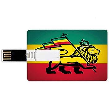 8GB Forma de Tarjeta de crédito de Unidades Flash USB Rasta ...