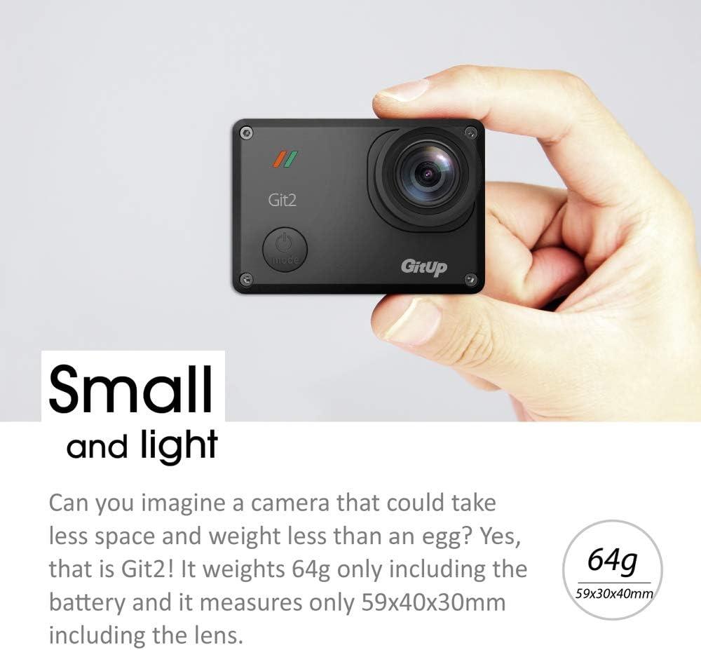 gitup - Cámara de acción GIT2 2880P HD de 16 MP, Impermeable, WiFi, 170 °, Gran Angular, Sensor Sony con 2 baterías Recargables y Cargador Doble: Amazon.es: Deportes y aire libre