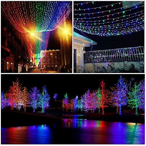 Molbory Solar String Lights Outdoor,2-Pack 33FT 100LED Fairy Lights with 8 Modes Decoration Copper Wire Lights Waterproof Indoor Outdoor Lighting for Patio Yard Trees Christmas Wedding Party