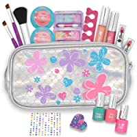 JOYIN 18 Pieces Pretend Makeup Deluxe Kit for Girls Play |Safe & Non-Toxic; Easy...