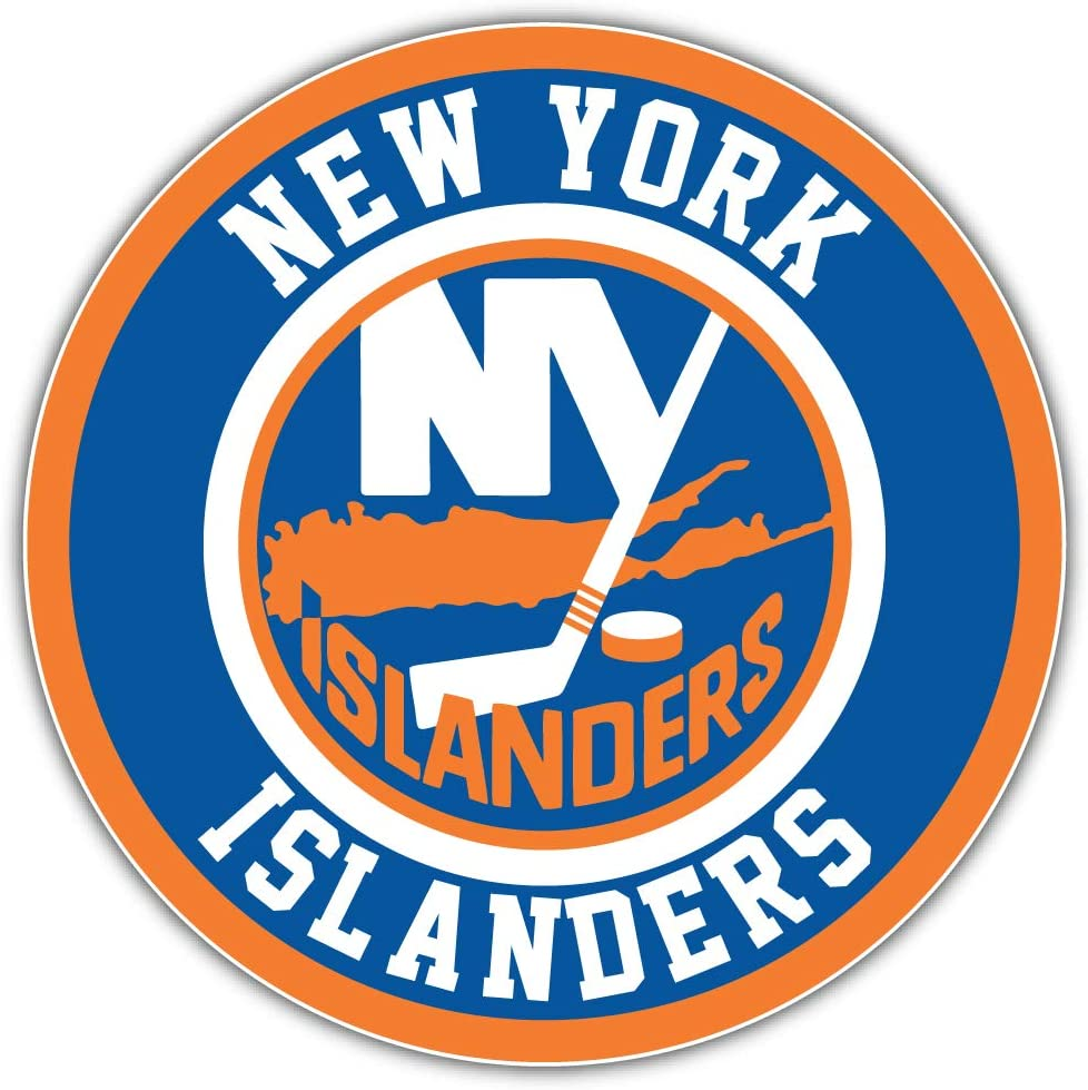 New York Logo Sport Car Bumper Sticker Decal 5 X 5 hotprint Islanders Hockey
