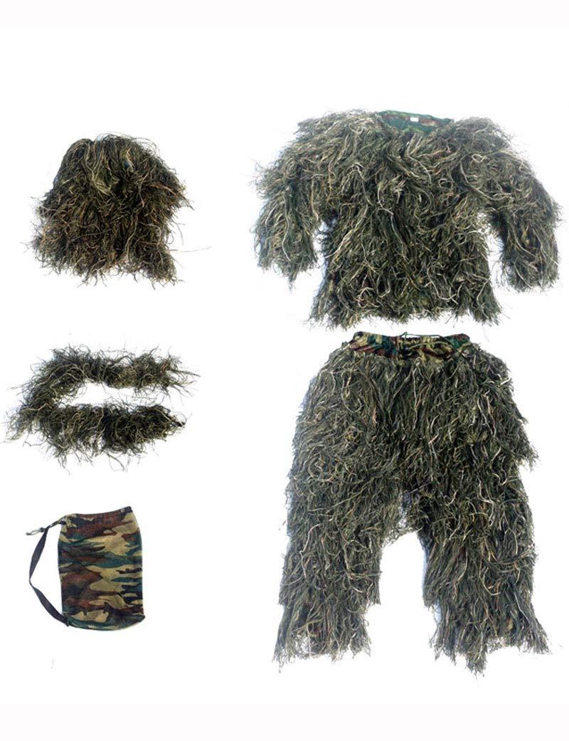 Poser Ghillie Suit Camo 3D Woodland Camo Jungle Leaf Traje ...