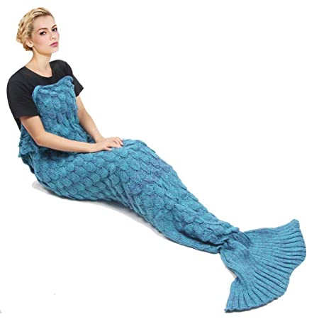 Mermaid Blanket By Sa Knitting Pattern Mermaid Tail Blanket For