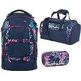 ff45603d01ad2 Satch Schulrucksack-Set 3-TLG Pack Waikiki Blue blau  Amazon.de ...