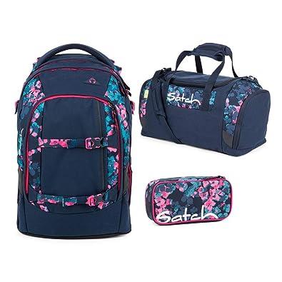 77669b38ec3d6 Satch Pack Awesome Blossom Schulrucksack Set 3tlg.  Amazon.de ...