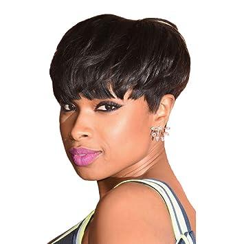 Amazon.com : FeiBin Hair Short Curly Human Hair Wigs for Black Women ...