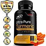 Turmeric Curcumin Supplement 19X Stronger -1500 mg of 95% Curcuminoids Extract Capsules - Pure Turmeric with BioPerine® Powder Pills is the Best Natural Joint Support Antioxidant Anti-Inflammatory