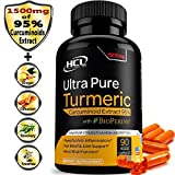 #7: Turmeric Curcumin Supplement 19X Stronger -1500 mg of 95% Curcuminoids Extract Capsules - Pure Turmeric with BioPerine® Powder Pills is the Best Natural Joint Support Antioxidant Anti-Inflammatory