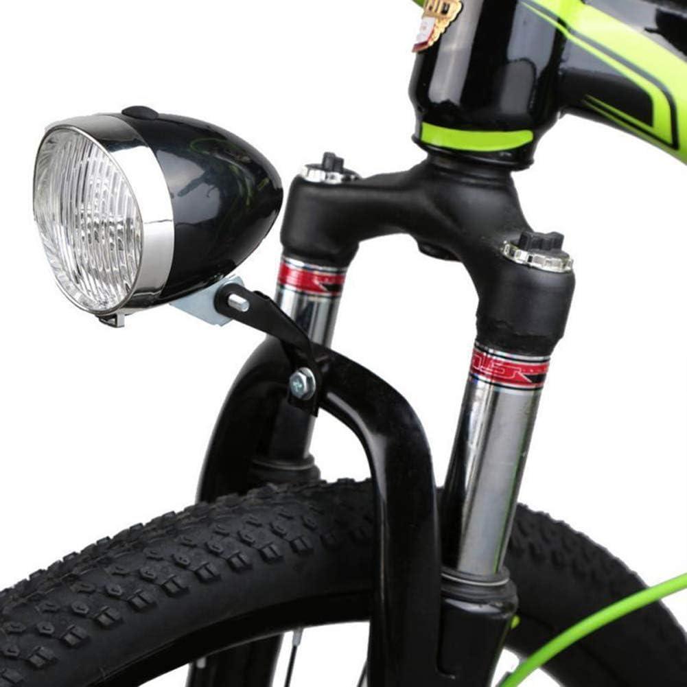 Epaynetwork Klassisches Cooles Vintage-Radsport-Frontlicht Silbernes Helles Fahrrad LED-Lichtnacht Sicherheitsbeleuchtung Nebelscheinwerfer-Scheinwerfer im Freien