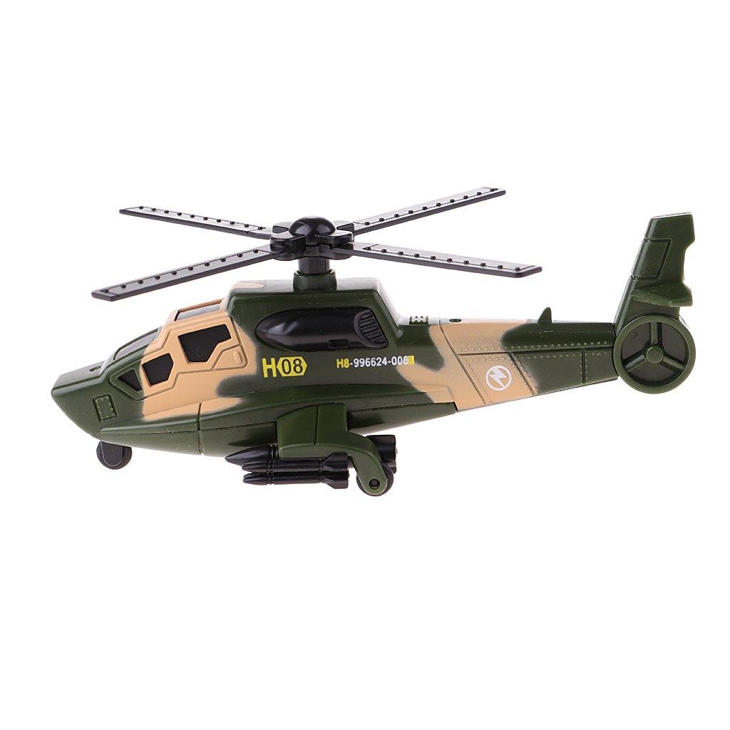 D DOLITY 1/64 Scala Modello Diecast Ruota Auto Militare Serbatoio Collezione Plastica Lega - Elicottero