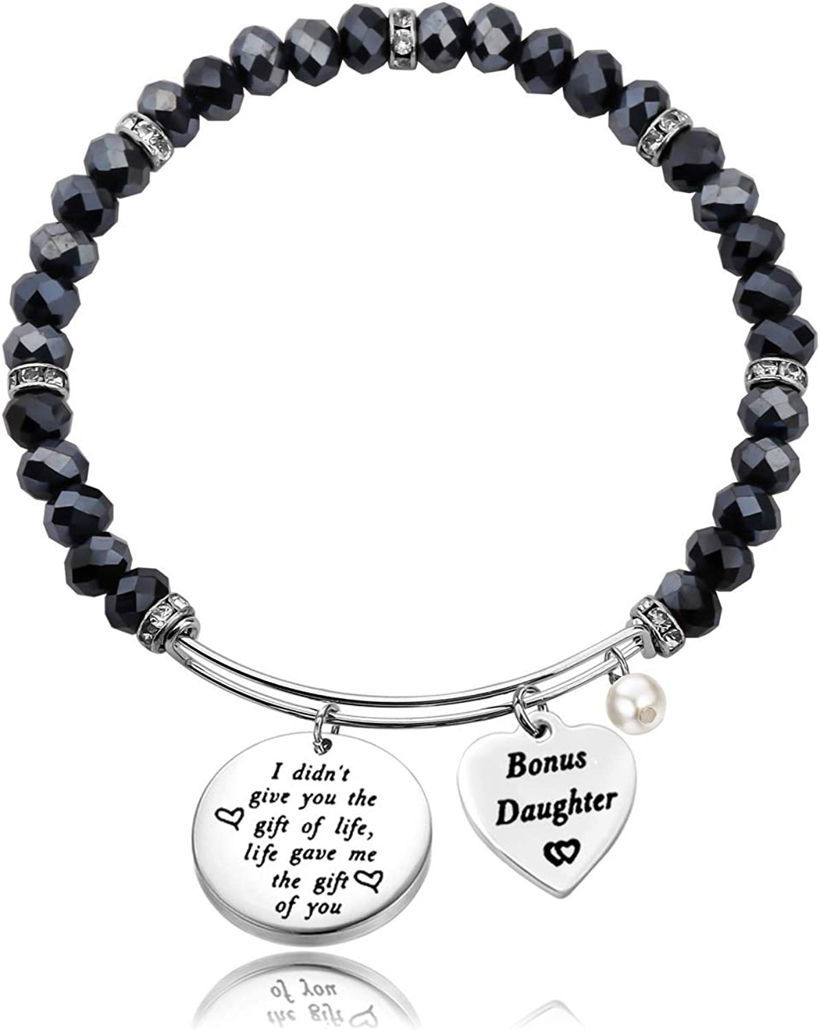 TISDA Stepdaughter Gift,Daughter in Law Gift,I Didnt Give You The Gift of Life Life Gave Me The Gift of You Bracelet
