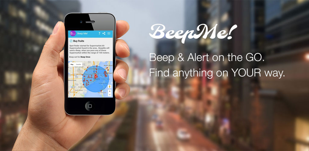 Amazon Com Beep Me A Location Based Reminder App Appstore For Android