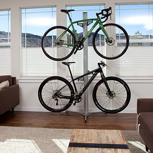 Feedback Sports Velo Cache 2 Bike Storage Rack, Silver