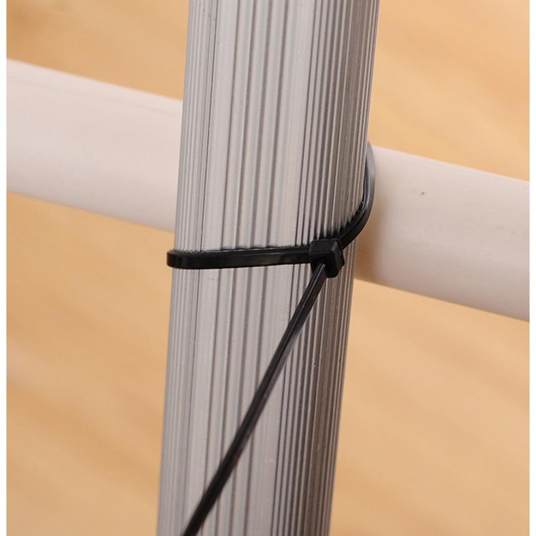 multicolore 150 ou 200 mm Lot de 100 colliers de serrage en nylon r/ésistants aux UV et aux intemp/éries 100 Winkey