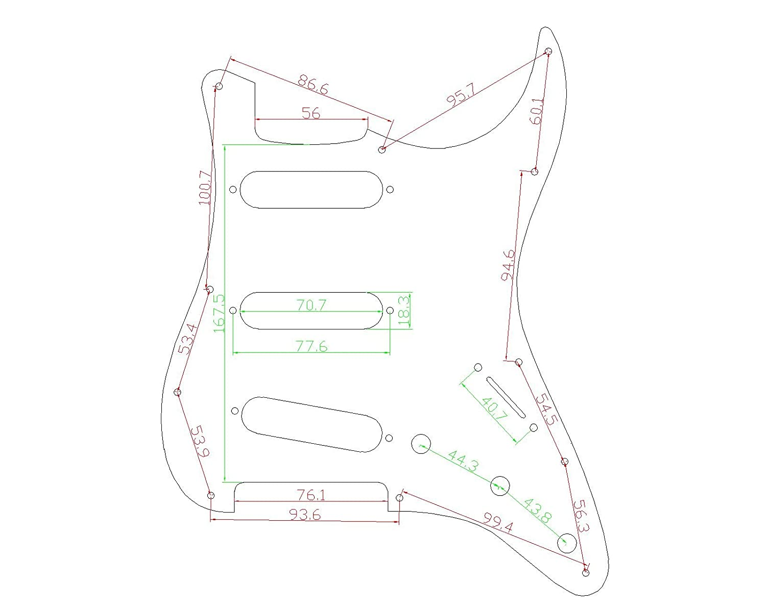 Musiclily 4Ply SSS 11 Holes Strat Electric Guitar Pickguard for Fender US//Mexico Made Standard Stratocaster Modern Style Guitar Parts,Yellow Black