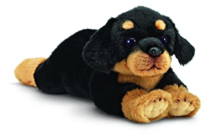 Amazon Com Bearington Gunner Rottweiler Plush Stuffed Animal Puppy