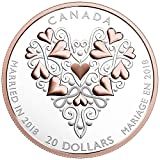 2018 Best Wishes On Your Wedding Day - 1 oz. Pure Silver Coin with Pink Gold Plating*