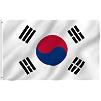 Anley Fly Breeze 3x5 Foot South Korea Flag - Vivid Color and UV Fade Resistant -...