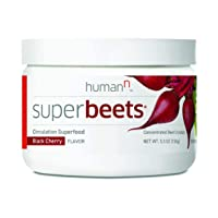 HumanN SuperBeets - USA Grown Beet Root Powder Superfood - Super Beets Natural Nitric Oxide Booster Supplement Supports Healthy Blood Pressure, Circulation & Immune Support - Black Cherry, 5.3oz