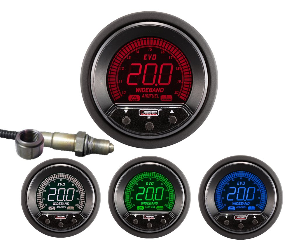 New Prosport 52mm Premium Evo Wideband Digital Air Fuel Wiring Instructions Ratio Kit Automotive