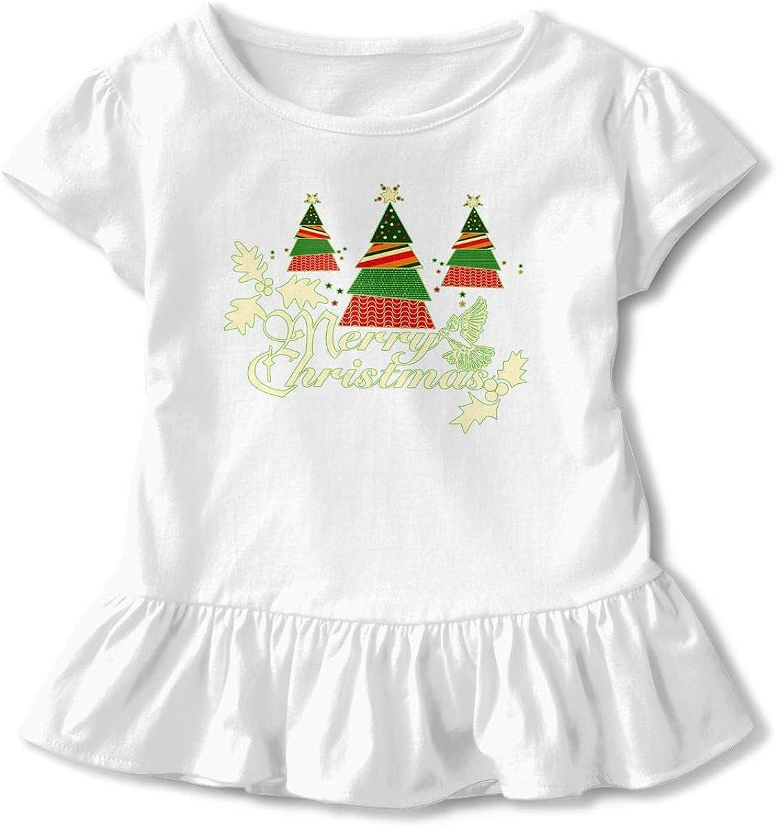 NMDJC CCQ Merry Christmas Baby Skirts Fashion Kids T Shirt Dress Cotton Flounces Outfits