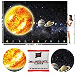 GREAT ART Photo Wallpaper Planets Solar System Decoration 132.3x93.7in / 336x238cm - Wallpaper 8 Pieces Includes Paste.