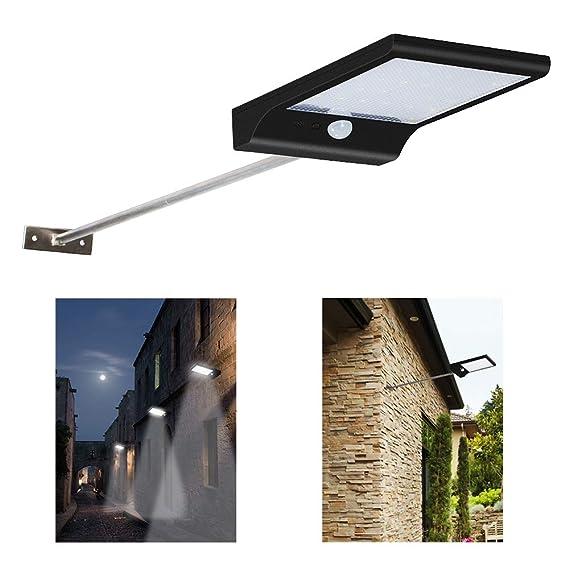 Focos Exterior 36 LED Lamparas Solar 450 Lúmenes Apliques de Exterior Impermeable con Sensor de Movimiento (1PC): Amazon.es: Iluminación