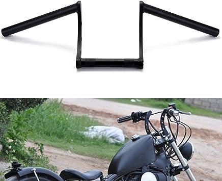 """Black Drag Handlebar 1/"""" Z Bar 25mm For Harley Softail Dyna Sportster ATV"""