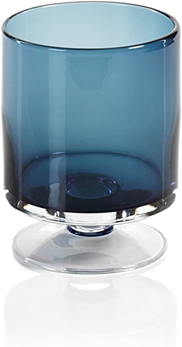 Zodax Algarve 13.5 Tall Footed Base Midnight Blue Hurricane