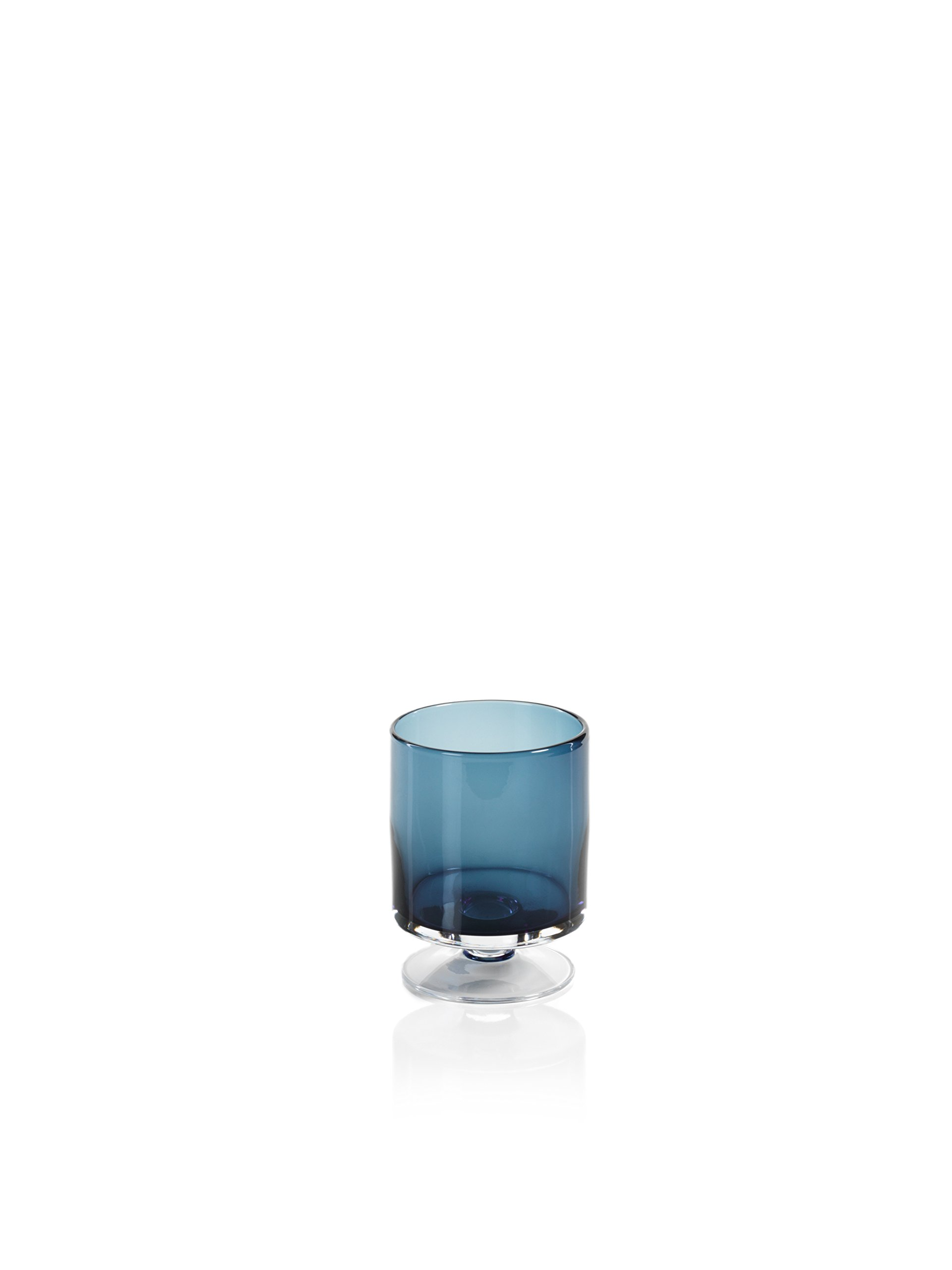 Zodax'' Algarve 6'' Tall Footed Base, Midnight Blue Hurricane