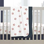 Carousel Designs Red and Navy Baseball Crib Blanket