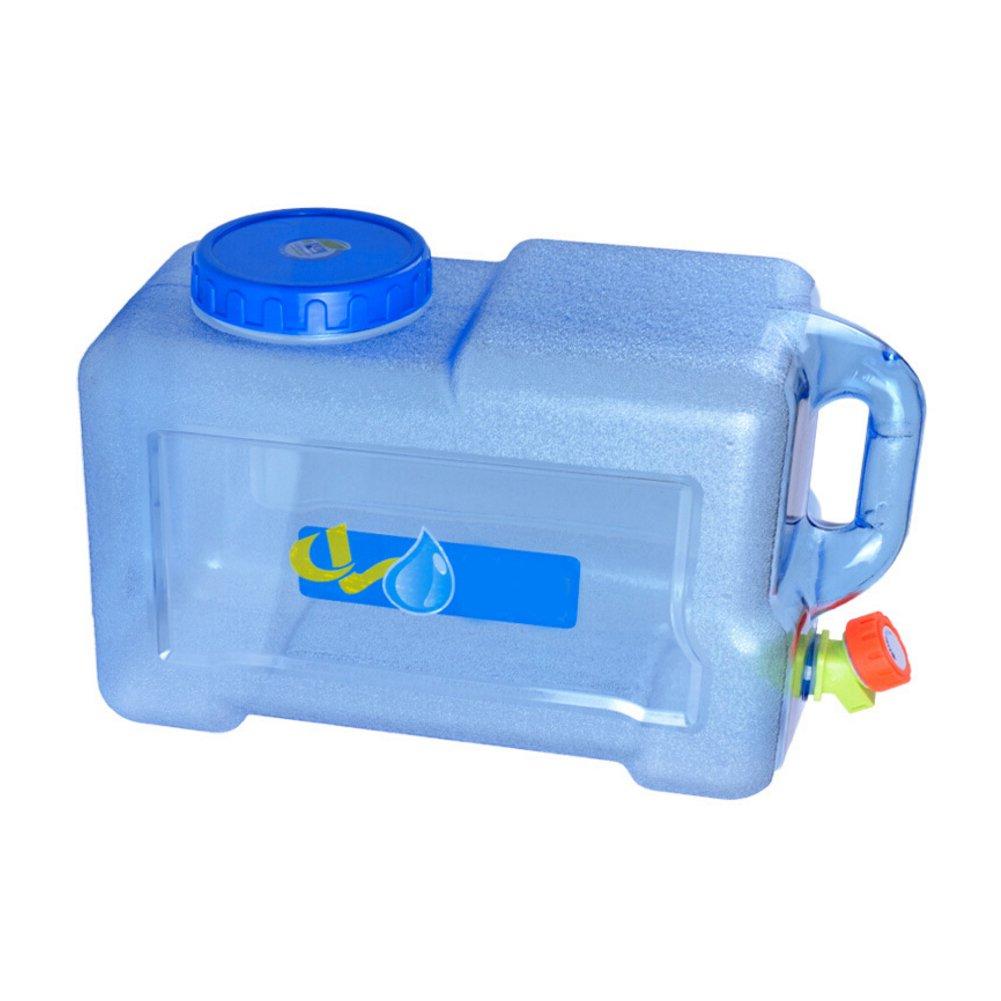 Fancyland Depósito de agua portátil, 12L con grifo cubo portátil coche con grifo