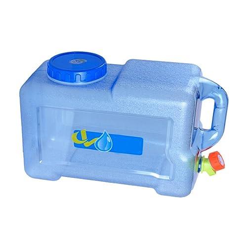 Brightcactus Jerrican Alimentaire Camping avec un Robinet 12L, Bidon d'eau avec Bec Verseur en Plastique Epais pour le Transport d'eau, Parfait pour Voyage Voiture Maison