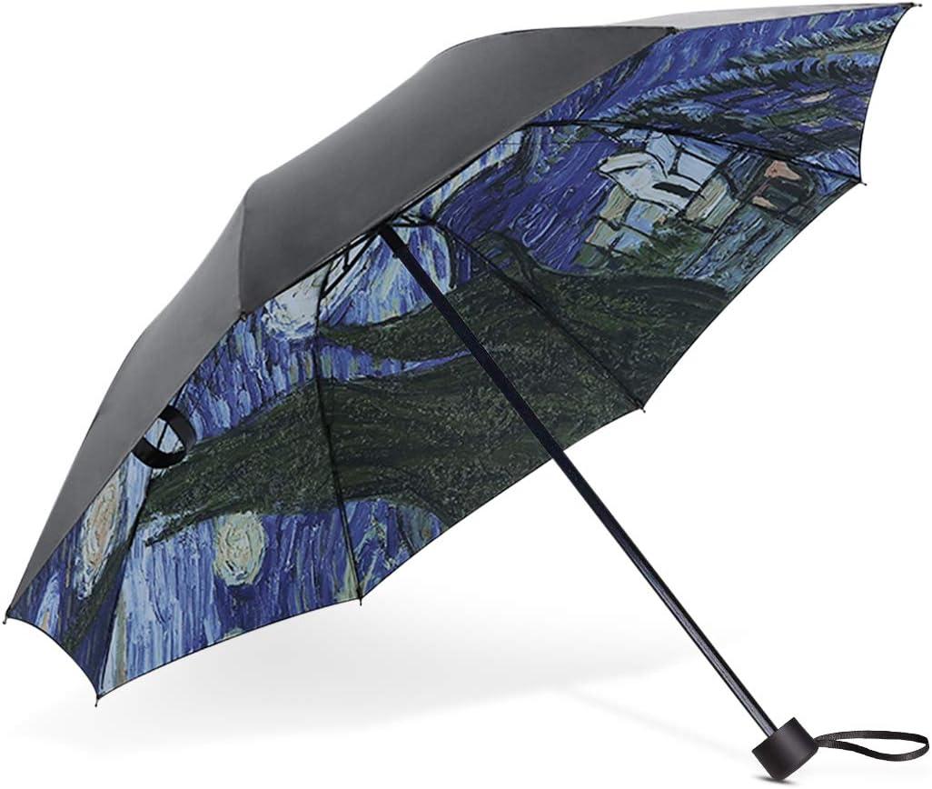 DORRISO Parapluie Pliant Femme Mini Parapluie R/ésistant Vent Voyage Imperm/éable Resistant au Vent Les Petit Parapluie Ciel /étoil/é A
