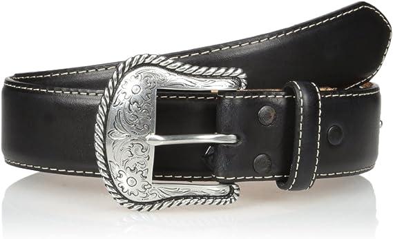 Nocona Belt Co Mens Top Hand Black Wipstitch