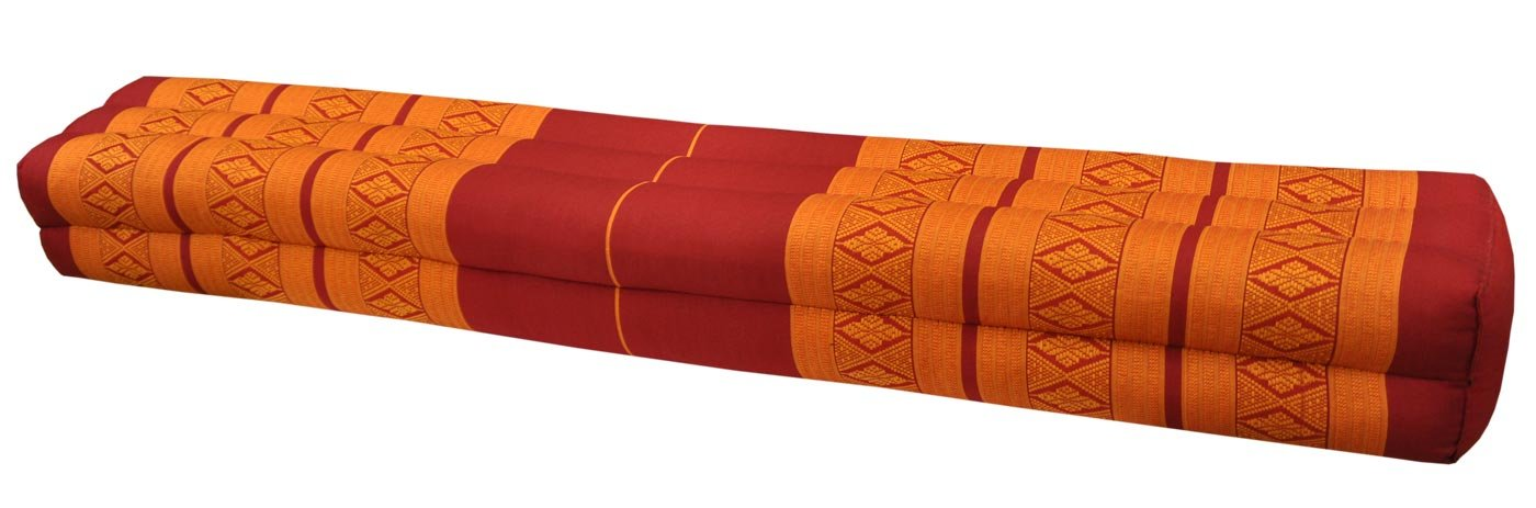 Thai cushion bolster , pillow, sofa, imported from Thaïland, red/orange, relaxation, beach, pool, meditation garden (81011) by Wilai GmbH