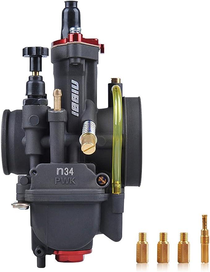 Nibbi Motorcycle Carburetor Main Nozzle Power Jet Slow Jet Main Injectors Nozzle Engine Applicable 113# main jet for PE