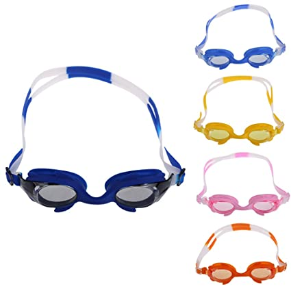 3b472ae3f11 Buy Rrimin Children Swimming Goggles Fish Frame Anti-UV PC Lens Flexible  Silicon Glasses Online at Low Prices in India - Amazon.in