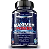#1 Testosterone Booster Pills for Men - 100% All Natural Supplement - Boost Testosterone, Libido, Energy, Drive, & Fat Loss - Look Fitter & Leaner - 30 Day Supply, Guaranteed by Core Vitality